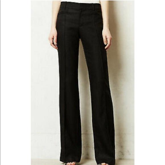 Elevenses Black Linen Blend Wide Leg Brighton Pant